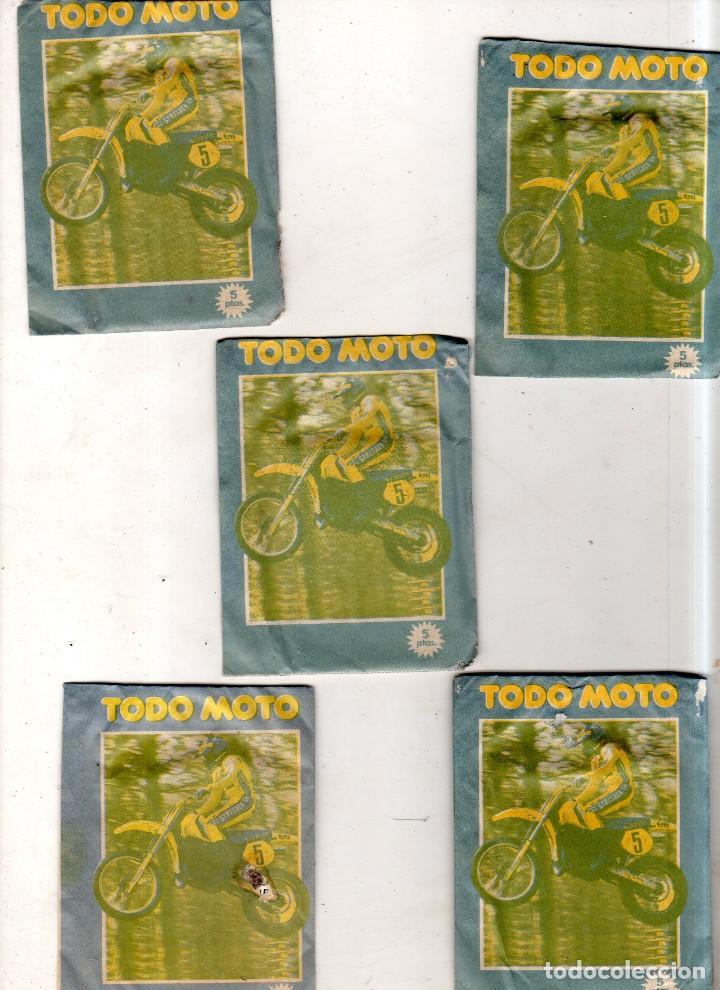 Coleccionismo deportivo: LOTE DE 5 SOBRES DE CROMOS CERRADOS. TODO MOTO. CROMOS CANO. VER FOTOS. - Foto 2 - 171015118