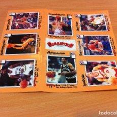 Coleccionismo deportivo: 8 CROMOS ADHESIVOS DE LA REVISTA GIGANTES DEL BASKET - NBA (1989). CON FERNANDO MARTÍN. Lote 172371525