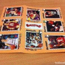 Coleccionismo deportivo: 8 CROMOS ADHESIVOS DE LA REVISTA GIGANTES DEL BASKET - NBA (1989). CON DRAZEN PETROVIC. Lote 172371564