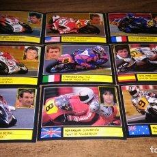Coleccionismo deportivo: ALBUM SUPER MOTO (ED. ESTE 1990) - LOTE 47 CROMOS NUEVOS PILOTOS MUNDIAL MOTOS 1990. Lote 173444277