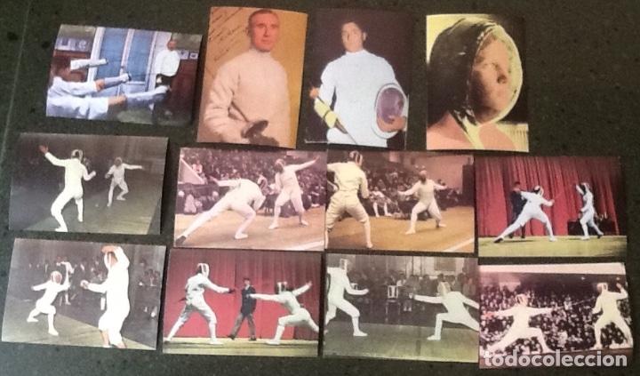 ESGRIMA, SERIE COMPLETA DE 12 CROMOS, DE LA COLECCIÓN LOS JUEGOS OLÍMPICOS (Coleccionismo Deportivo - Cromos otros Deportes)