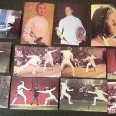 Coleccionismo deportivo: ESGRIMA, SERIE COMPLETA DE 12 CROMOS, DE LA COLECCIÓN LOS JUEGOS OLÍMPICOS. Lote 173858498
