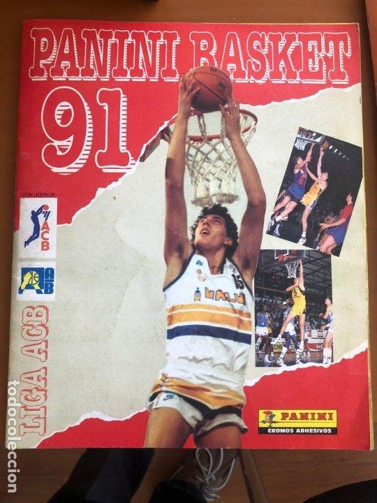 PANINI BASKET 91 BUEN ESTADO INCOMPLETO FALTAN 43 CROMOS POSIBILIDAD DE VENDERLOS SUELTOS (Coleccionismo Deportivo - Cromos otros Deportes)