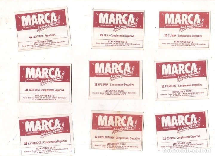 Coleccionismo deportivo: CROMOS MARCAMANIA. LOTE DE 79 CROMOS. ED. ESTE. DIFERENTES. NUEVOS SIN PEGAR. VER FOTOS. - Foto 3 - 174564163