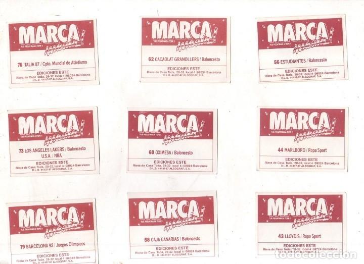 Coleccionismo deportivo: CROMOS MARCAMANIA. LOTE DE 79 CROMOS. ED. ESTE. DIFERENTES. NUEVOS SIN PEGAR. VER FOTOS. - Foto 5 - 174564163