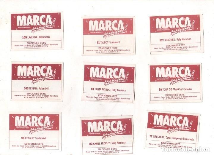 Coleccionismo deportivo: CROMOS MARCAMANIA. LOTE DE 79 CROMOS. ED. ESTE. DIFERENTES. NUEVOS SIN PEGAR. VER FOTOS. - Foto 7 - 174564163