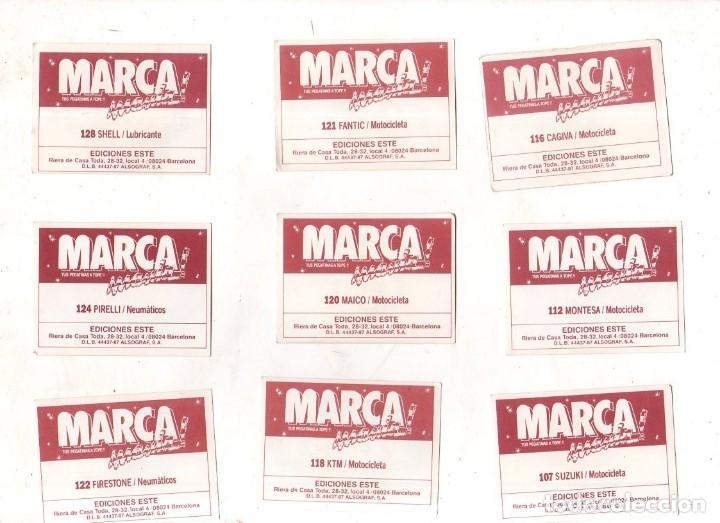 Coleccionismo deportivo: CROMOS MARCAMANIA. LOTE DE 79 CROMOS. ED. ESTE. DIFERENTES. NUEVOS SIN PEGAR. VER FOTOS. - Foto 9 - 174564163