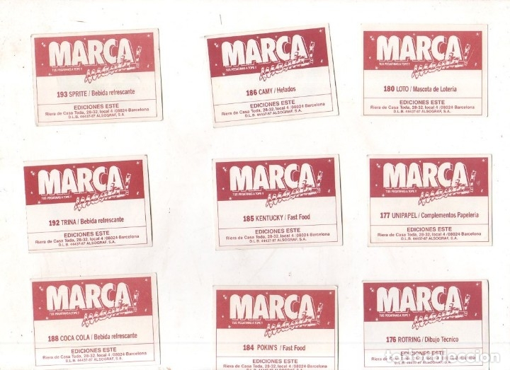Coleccionismo deportivo: CROMOS MARCAMANIA. LOTE DE 79 CROMOS. ED. ESTE. DIFERENTES. NUEVOS SIN PEGAR. VER FOTOS. - Foto 17 - 174564163