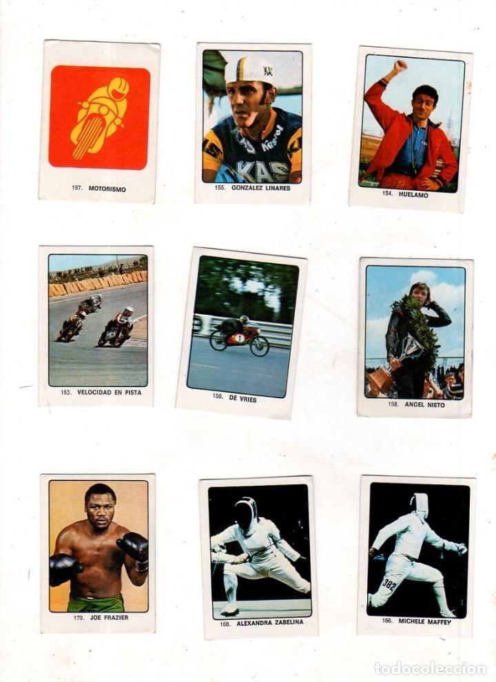 Coleccionismo deportivo: CAMPEONES DEL DEPORTE MUNDIAL 1974. LOTE DE 119 CROMOS.EDITORIAL KEISA. NUNCA PEGADOS.DIFERENTES.VER - Foto 11 - 174570483