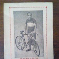 Coleccionismo deportivo: CICLISMO. CROMO TARJETA DE BENITO, CAMPEÓN DE EXTREMADURA DESDE 1938 A 1947.. Lote 174993098