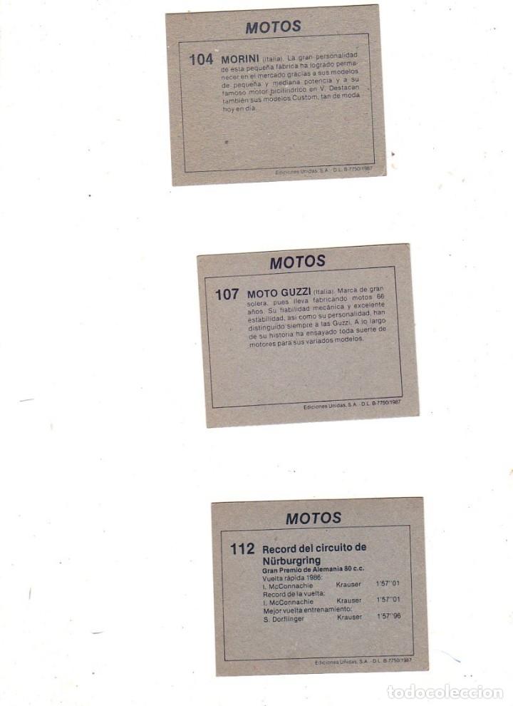 Coleccionismo deportivo: CROMOS MOTOS. LOTE DE 30 CROMOS. EDICIONES UNIDAS. 1987. DIFERENTES. NUNCA PEGADOS. VER FOTOS. - Foto 9 - 175018577