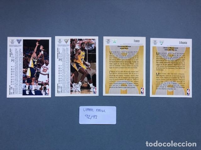 Coleccionismo deportivo: LOTE CARDS NBA UPPER DECK 1992 - Foto 2 - 175357745