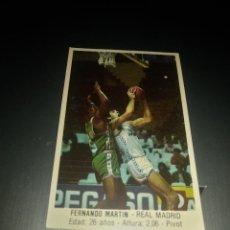 Coleccionismo deportivo: CROMO ADHESIVO DE FERNANDO MARTIN (REAL MADRID BALONCESTO). Lote 175365028