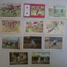 Coleccionismo deportivo: LOTE VARIADO 11 CROMOS CHOCOLATES DEPORTES FUTBOL AMATLLER. Lote 175899047