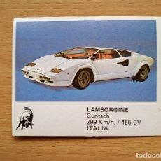 Coleccionismo deportivo: 157 LAMBORGINE GUNTACH AUTO 2000 COMIC ROMO SOLO AUTO AÑO 1988 CROMO SIN PEGAR NUNCA PEGADO. Lote 176049858