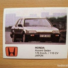 Coleccionismo deportivo: 67 HONDA ACCORD SEDAN AUTO 2000 COMIC ROMO SOLO AUTO AÑO 1988 CROMO SIN PEGAR NUNCA PEGADO. Lote 176138278
