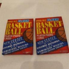 Coleccionismo deportivo: NBA FLEER 91-92 2 SOBRES SIN ABRIR. Lote 176323160