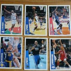 Coleccionismo deportivo: BALONCESTO 6 CROMOS NBA DE LOS AÑOS 90. Lote 177507125