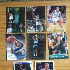 Coleccionismo deportivo: BALONCESTO 8 CROMOS NBA DE LOS AÑOS 90. Lote 177507213
