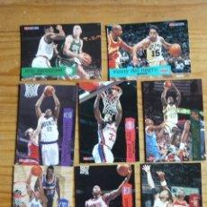 Coleccionismo deportivo: BALONCESTO 9 CROMOS NBA DE LOS AÑOS 90. Lote 177507500