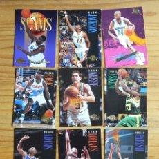 Coleccionismo deportivo: BALONCESTO 9 CROMOS NBA DE LOS AÑOS 90. Lote 177507574