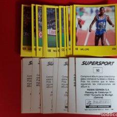 Coleccionismo deportivo: PANINI 1988 SUPERSPORT 38 CROMOS DIFERENTES NUNCA PEGADOS CARL LEWIS MCENROE PROST MALDINI LAWSON... Lote 177770735