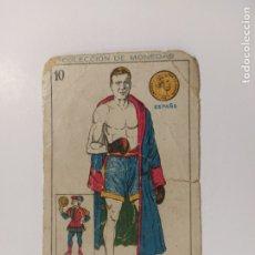 Coleccionismo deportivo: CROMO DE BOXEO-GABIOLA-CHOCOLATE AMATLLER-COLECCION DE MONEDAS-VER REVERSO-(V-17.740). Lote 178978743