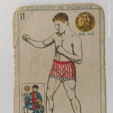 Coleccionismo deportivo: CROMO DE BOXEO-DUNDÉE-CHOCOLATE AMATLLER-COLECCION DE MONEDAS-VER REVERSO-(V-17.741). Lote 178978811