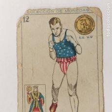 Coleccionismo deportivo: CROMO DE BOXEO-SHARKEY-CHOCOLATE AMATLLER-COLECCION DE MONEDAS-VER REVERSO-(V-17.742). Lote 178978867