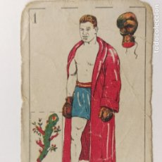 Coleccionismo deportivo: CROMO DE BOXEO-UZCUDUN-CHOCOLATE AMATLLER-VER REVERSO-(V-17.743). Lote 178978922