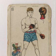 Coleccionismo deportivo: CROMO DE BOXEO-LONGHRAN-CHOCOLATE AMATLLER-VER REVERSO-(V-17.744). Lote 178978951