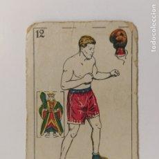 Coleccionismo deportivo: CROMO DE BOXEO-RISKO-CHOCOLATE AMATLLER-VER REVERSO-(V-17.747). Lote 178979032