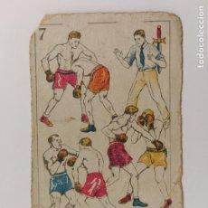 Coleccionismo deportivo: CROMO DE BOXEO-JUEGO DEFENSIVO-CHOCOLATE AMATLLER-VER REVERSO-(V-17.750). Lote 178979262