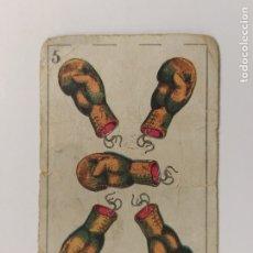 Coleccionismo deportivo: CROMO DE BOXEO-5 GUANTES DE BOXEO-CHOCOLATE AMATLLER-VER REVERSO-(V-17.754). Lote 178979373