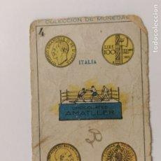 Coleccionismo deportivo: CROMO DE BOXEO-RING DE BOXEO-CHOCOLATE AMATLLER-COLECCION DE MONEDAS-VER REVERSO-(V-17.757). Lote 178979472