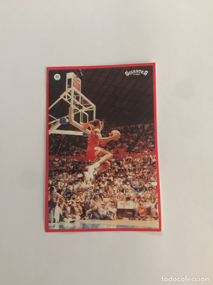 MICHAEL JORDAN N 33 GIGANTES DEL BASKET (Coleccionismo Deportivo - Cromos otros Deportes)