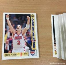 Coleccionismo deportivo: LOTE DE 94 CARDS CON 3 DE DRAZEN PETROVIC - UPPER DECK NBA 1992 BASKET USA - VERSIÓN ESPAÑOLA. Lote 179521591