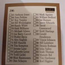 Coleccionismo deportivo: CHECKLIST 296 NBA SKYBOX 1990-91. Lote 181230856