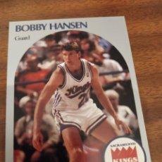 Coleccionismo deportivo: BOBBY HANSEN 428 NBA HOOPS 1990-91 SACRAMENTO KINGS. Lote 181772772