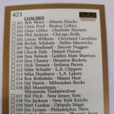 Coleccionismo deportivo: CHECKLIST 421 NBA SKYBOX 1990-91. Lote 181805950