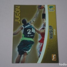 Coleccionismo deportivo: CROMO CARD DE BALONCESTO HAISLIP DEL UNICAJA Nº 286 LIGA ACB 08-09 DE PANINI. Lote 182228093