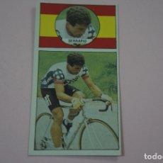 Coleccionismo deportivo: CROMO CICLISMO ANGEL JOSE SARRAPIO SIN PEGAR Nº 23 AÑO 1987 DE ALBUM ASES DEL PEDAL DE J. MERCHANTE. Lote 182256201
