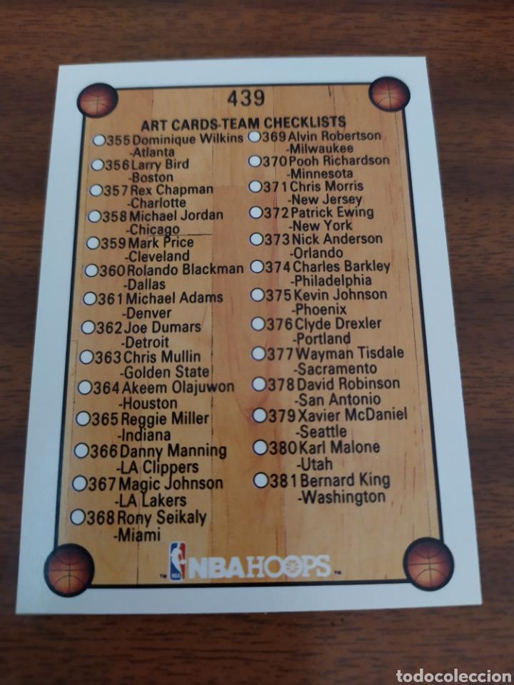 CHECKLIST 439 NBA HOOPS 1990-91 (Coleccionismo Deportivo - Cromos otros Deportes)