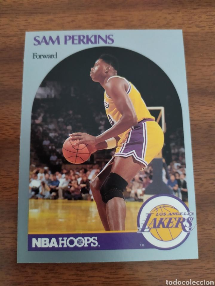 SAM PERKINS 415 NBA HOOPS 1990-91 LOS ANGELES LAKERS (Coleccionismo Deportivo - Cromos otros Deportes)