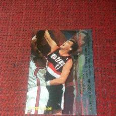 Coleccionismo deportivo: CROMO BALONCESTO NBA. CARD ARVYDAS SABONIS, ROOKIE PORTLAND TRAIL BLAZERS, FLEER 1995/96. Lote 183031062