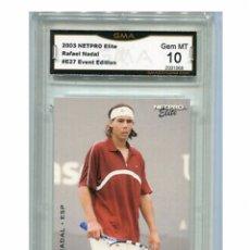 Coleccionismo deportivo: RAFA NADAL ROOKIE CARD. 10 PERFECTO. Lote 199046088