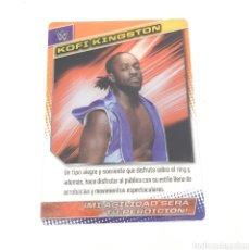 Coleccionismo deportivo: (C-25) CARTA WWE 2015 DE PANINI. N°040 KOFI KINGSTOM. Lote 186187925