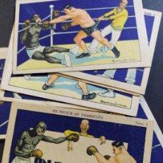 Coleccionismo deportivo: BOXEO-UN MATCH DE EXHIBICION-COL·COMPLETA 15 CROMOS-PUBLICIDAD CHOCOLATE JUNCOSA-VER FOTOS(V-18.614). Lote 187217293