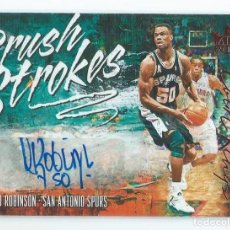 Coleccionismo deportivo: NBA PANINI BRUSH STROKES 2018-19 : AUTOGRAFO ORIGINAL DAVID ROBINSON. MUY LIMITADO (12/25). Lote 188720606