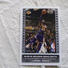 Coleccionismo deportivo: LEBRON JAMES. LOS ÁNGELES LAKERS. STICKER 5. NBA. PANINI. 2019, 2020.. Lote 191332602